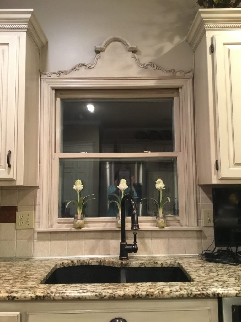 Crown Molding Above A Kitchen Window