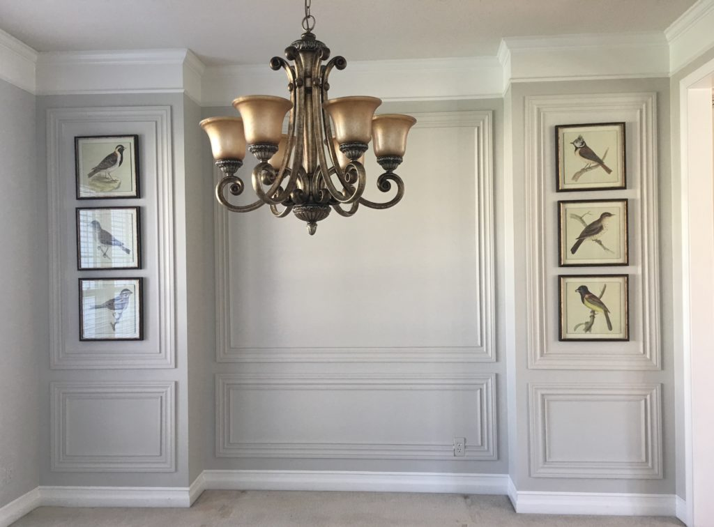 Wainscoting On Dining Room Accent Walls Embellishments